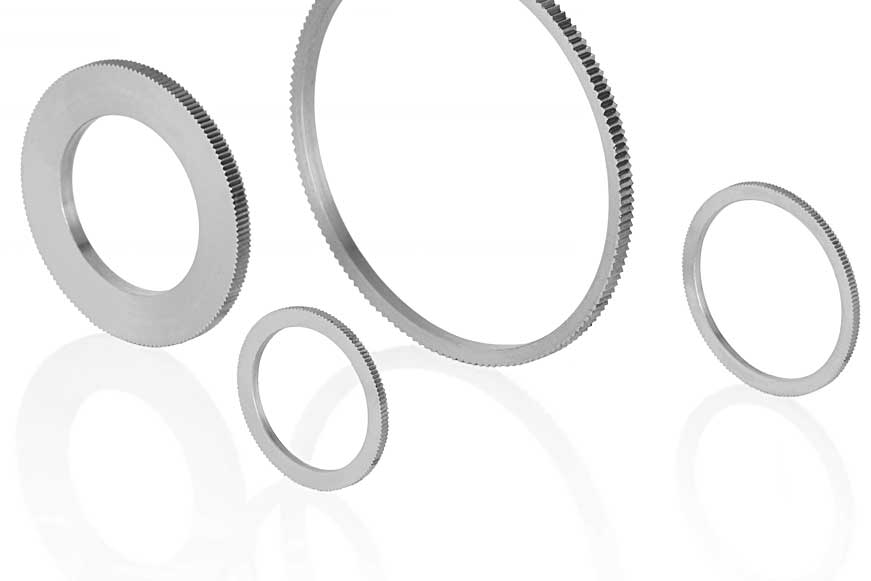 Reduction ring in knurled design